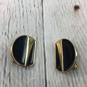 Monet round classic clip on earrings